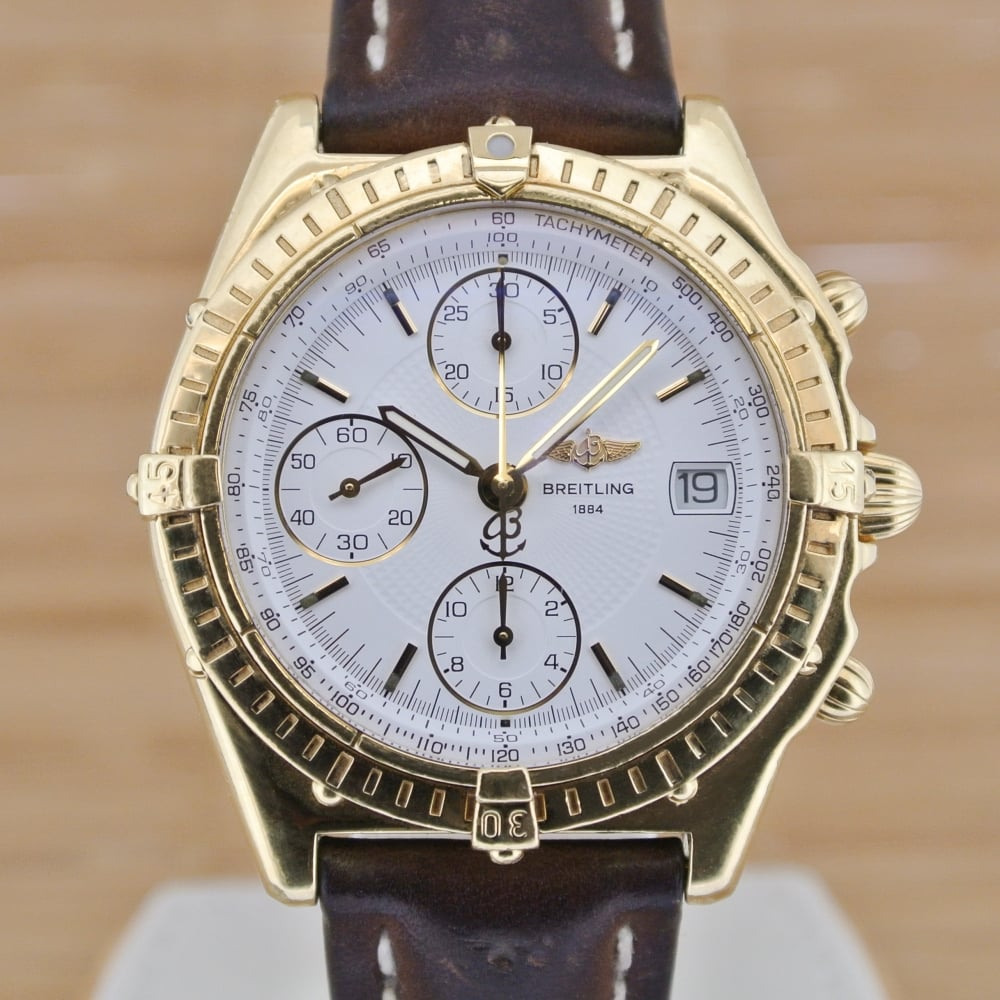 Breitling Chronomat Gold Boxed With Papers 1995
