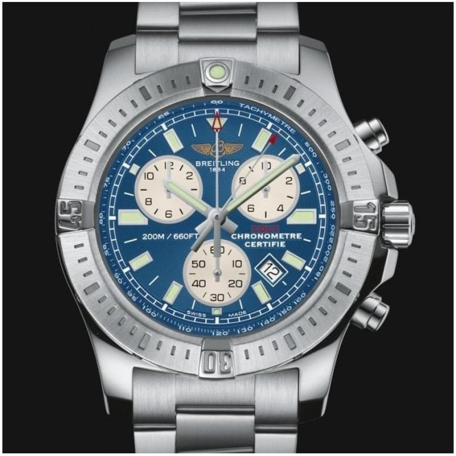 breitling colt chronograph quartz 44mm a7338811 c905 173a unworn with box and papers. Black Bedroom Furniture Sets. Home Design Ideas