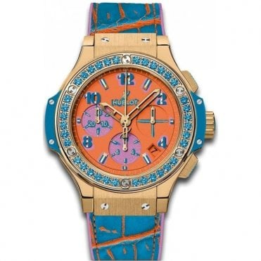 Big Bang Pop Art Yellow Gold Blue 41 mm - Unworn with Box and Papers