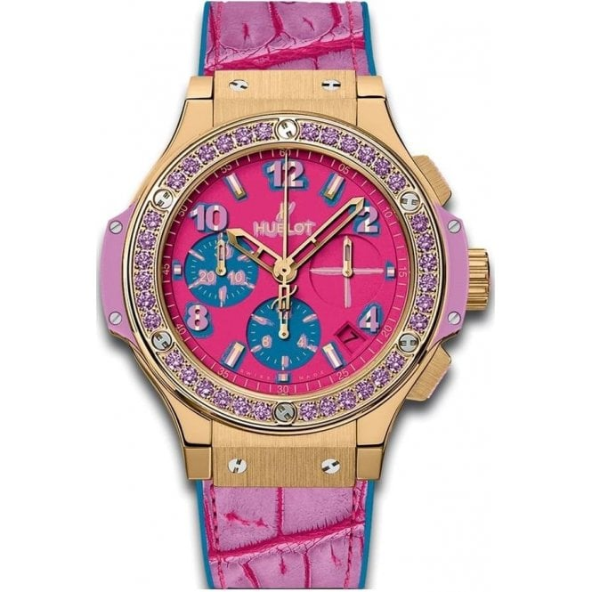 Hublot Big Bang Pop Art Yellow Gold Purple 41 mm - Unworn with Box and Papers