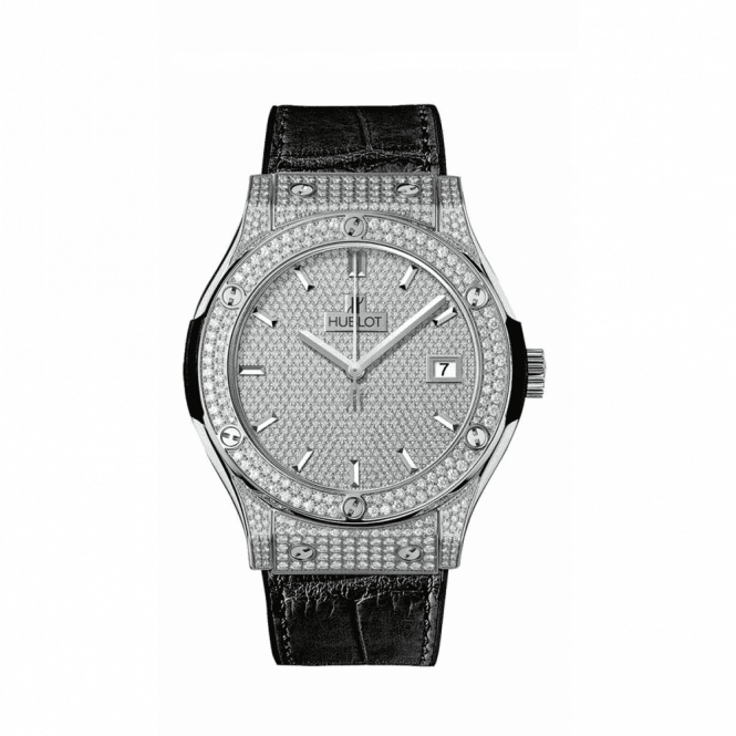 Hublot Classic Fusion Full Pave & Jewellery 42 mm - Unworn with Box and Papers