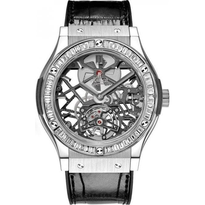 Hublot Classic Fusion Tourbillon Chronograph Skeleton Baguettes & Jewellery 45 mm - Unworn with Box and Papers