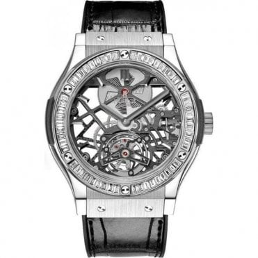 Classic Fusion Tourbillon Chronograph Skeleton Baguettes & Jewellery 45 mm - Unworn with Box and Papers