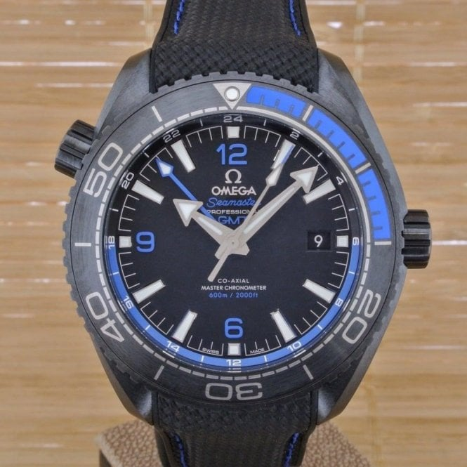 Omega Planet Ocean Deep Black Blue GMT - Unworn with Box and Papers 2017