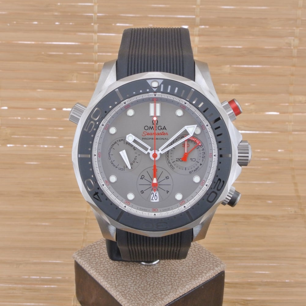 Omega seamaster diver 300 m co axial chronograph 44 mm etnz edition unworn with box and papers for Omega diver