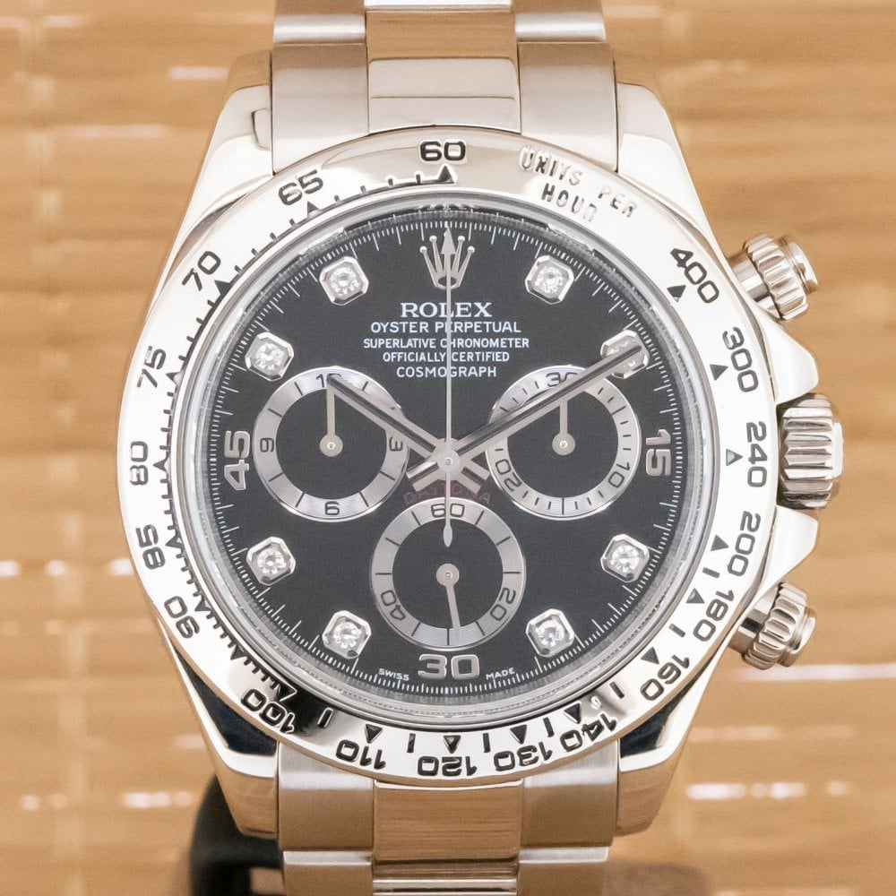 Rolex Cosmograph Daytona Diamond Box And Papers From September 2007