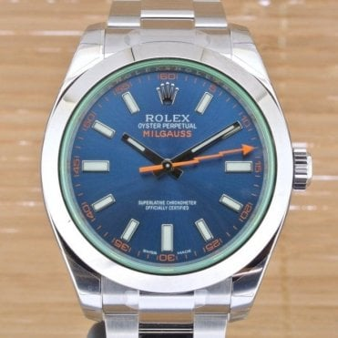 Milgauss Z Blue - Unworn with Box and Papers from August 2017