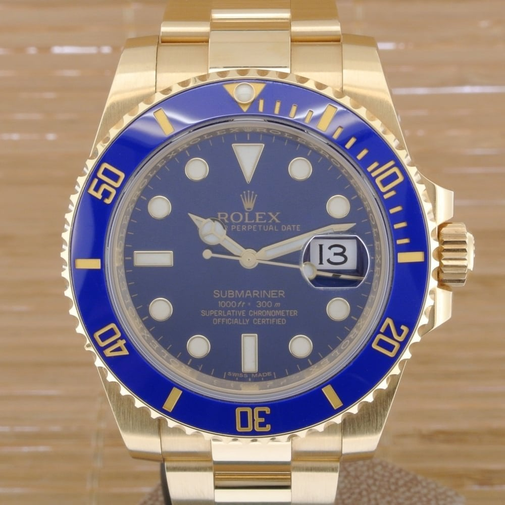 sale retailer 5147b a6c2a Rolex Submariner 116618LB - Boxed with Papers from October 2015