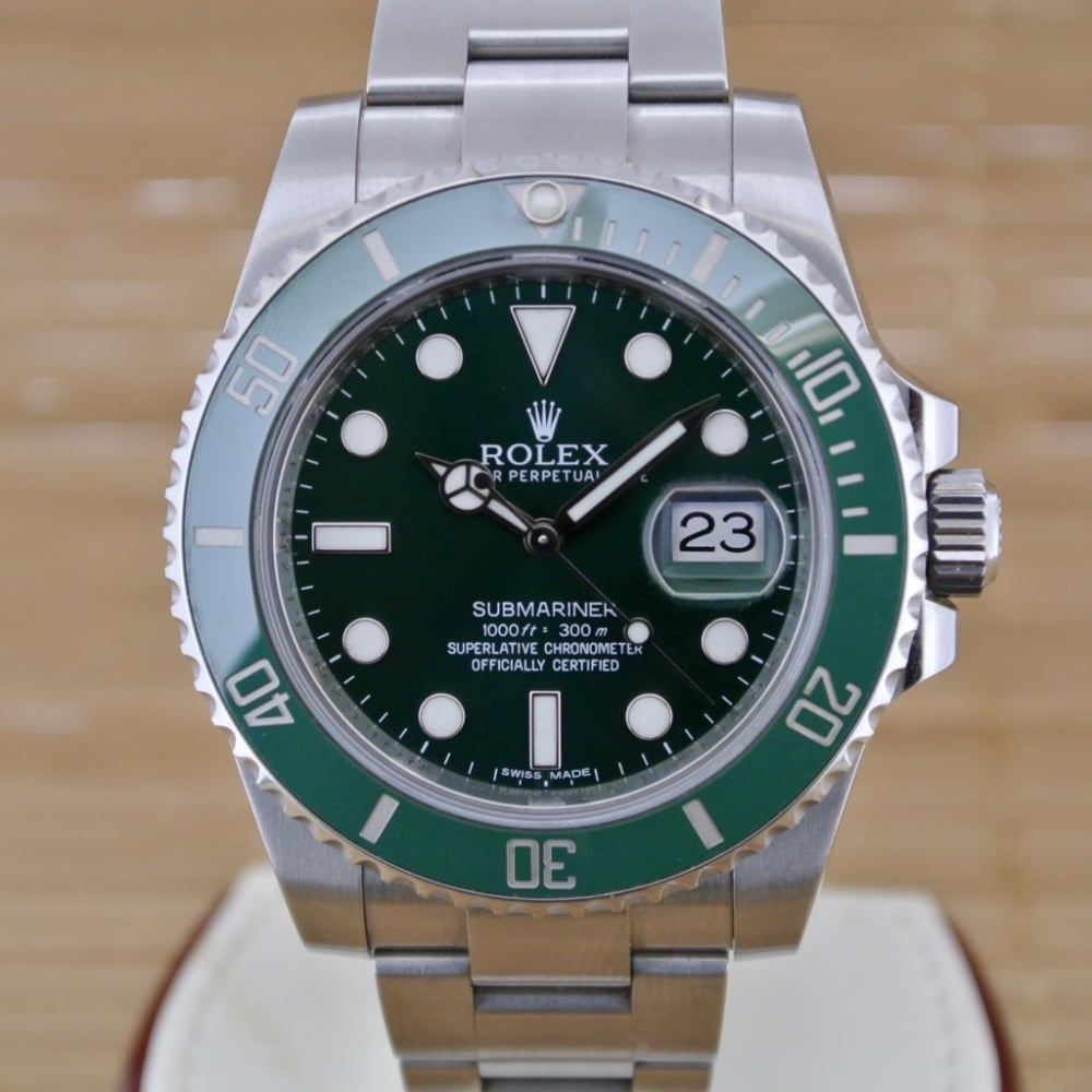 Rolex Submariner Date \u0027Hulk\u0027 , Boxed with Papers from 2013