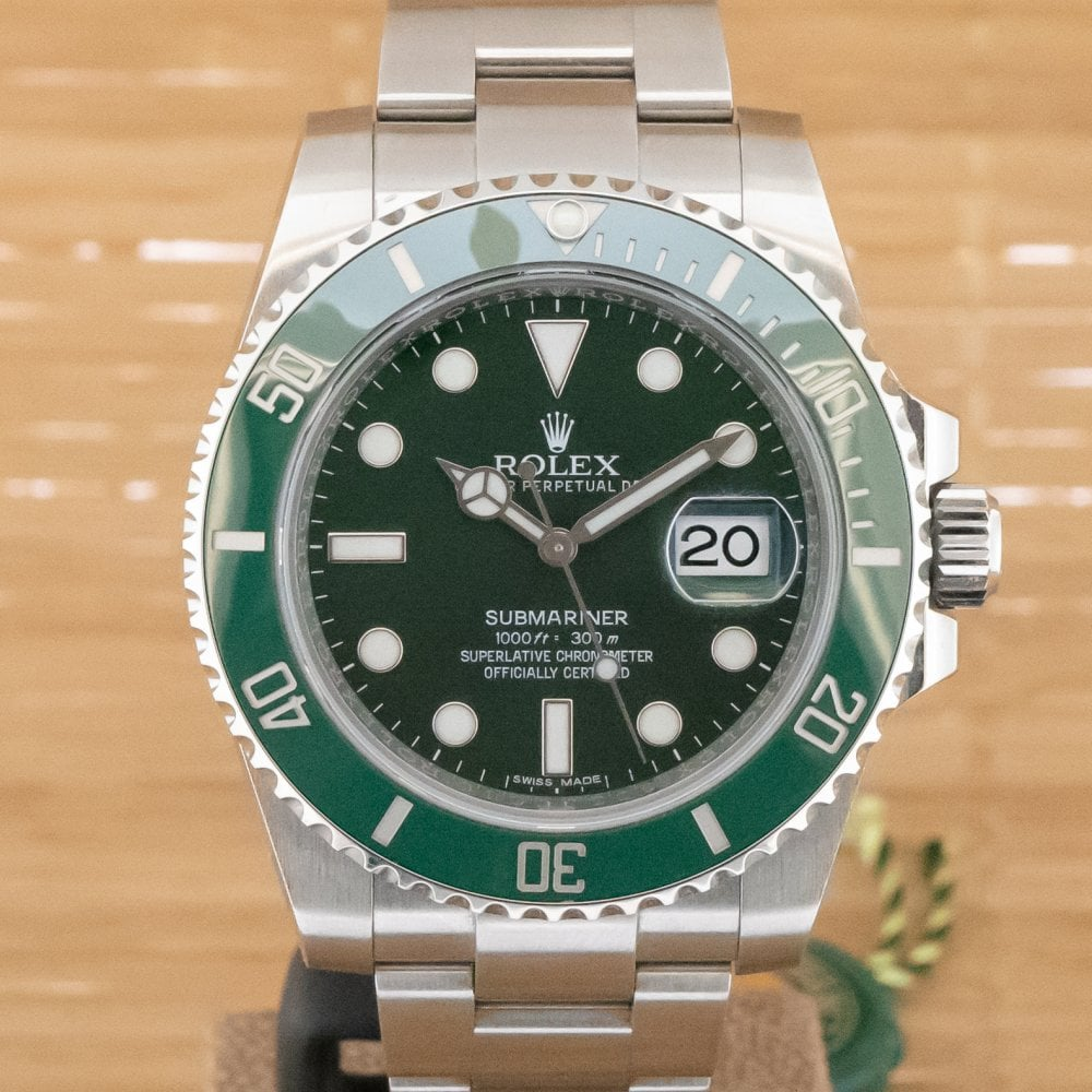 Submariner Date \u0027Hulk\u0027 , Boxed with Papers from October 2016