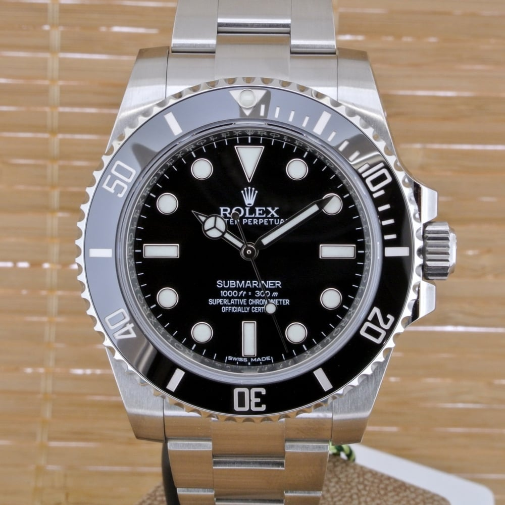 rolex submariner no date unworn with box and papers from 2016 rolex from watch buyers ltd uk. Black Bedroom Furniture Sets. Home Design Ideas