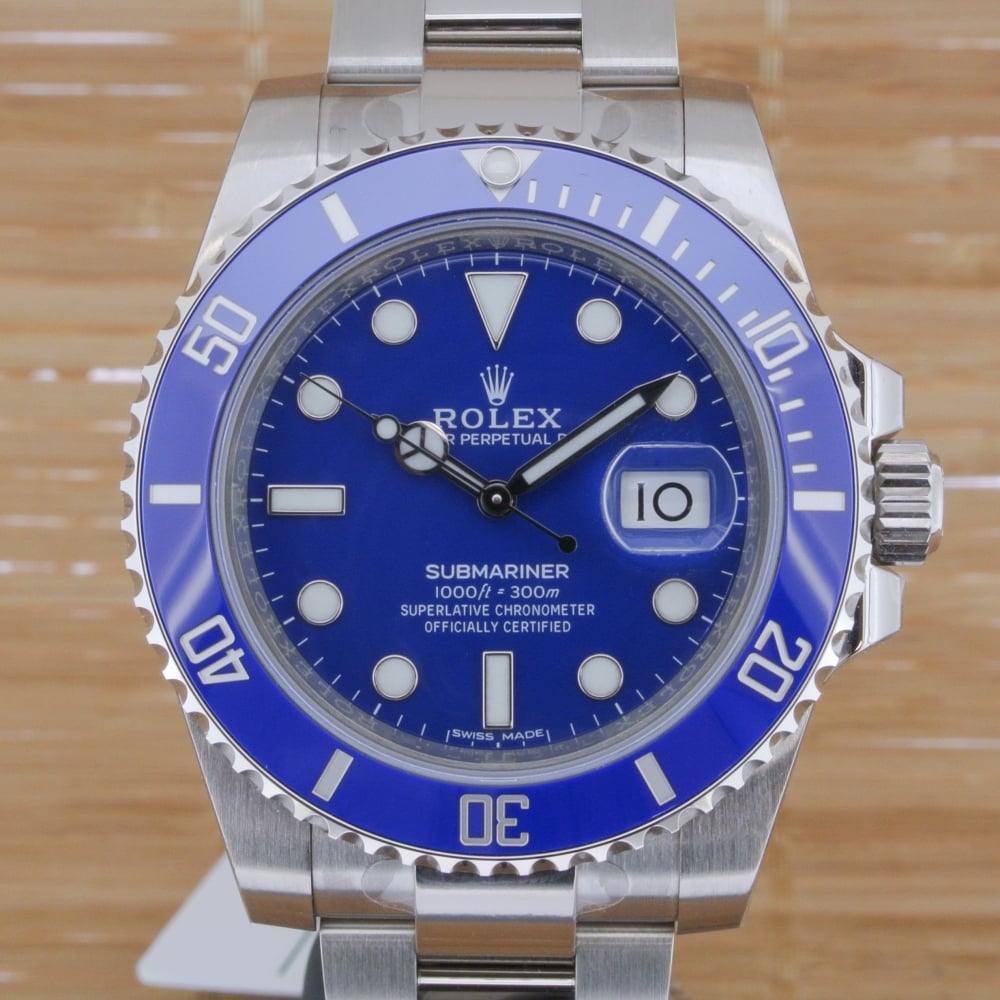 Rolex Submariner White Gold Unworn With Box And Papers