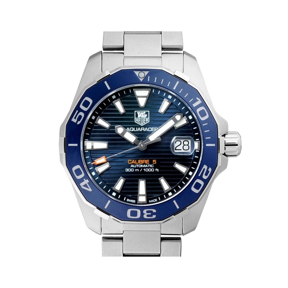 Tag Heuer Uk >> Tag Heuer Aquaracer 300m Calibre 5 Automatic Watch 41mm Ceramic