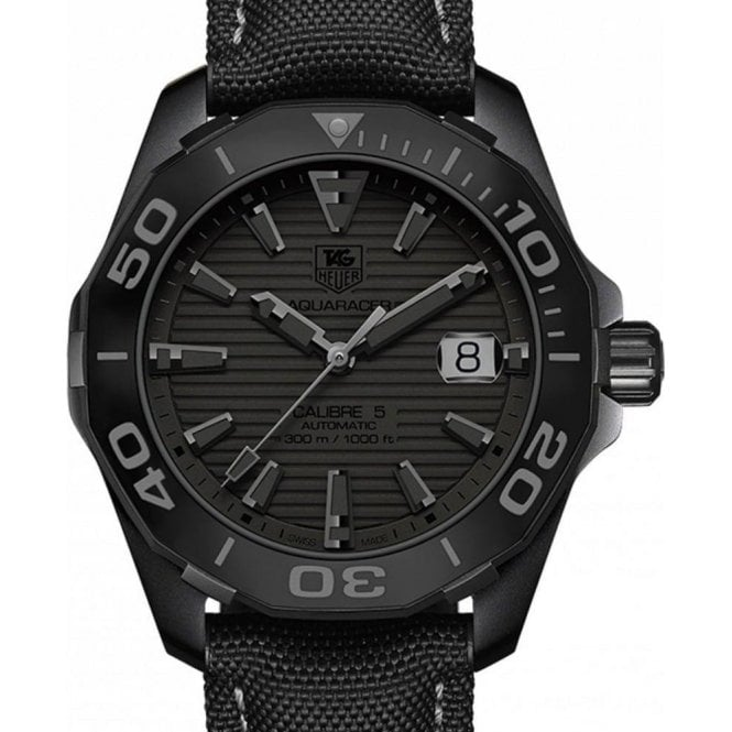"TAG Heuer Aquaracer 300M Calibre 5 ""Black phantom"" 41mm - Unworn with Box and Papers"