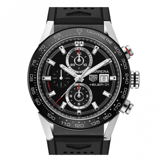 TAG Heuer Carrera Automatic Chronograph Ceramic Bezel - Unworn with Box and Papers 7 day delivery