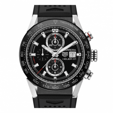 Carrera Automatic Chronograph Ceramic Bezel - Unworn with Box and Papers 7 day delivery