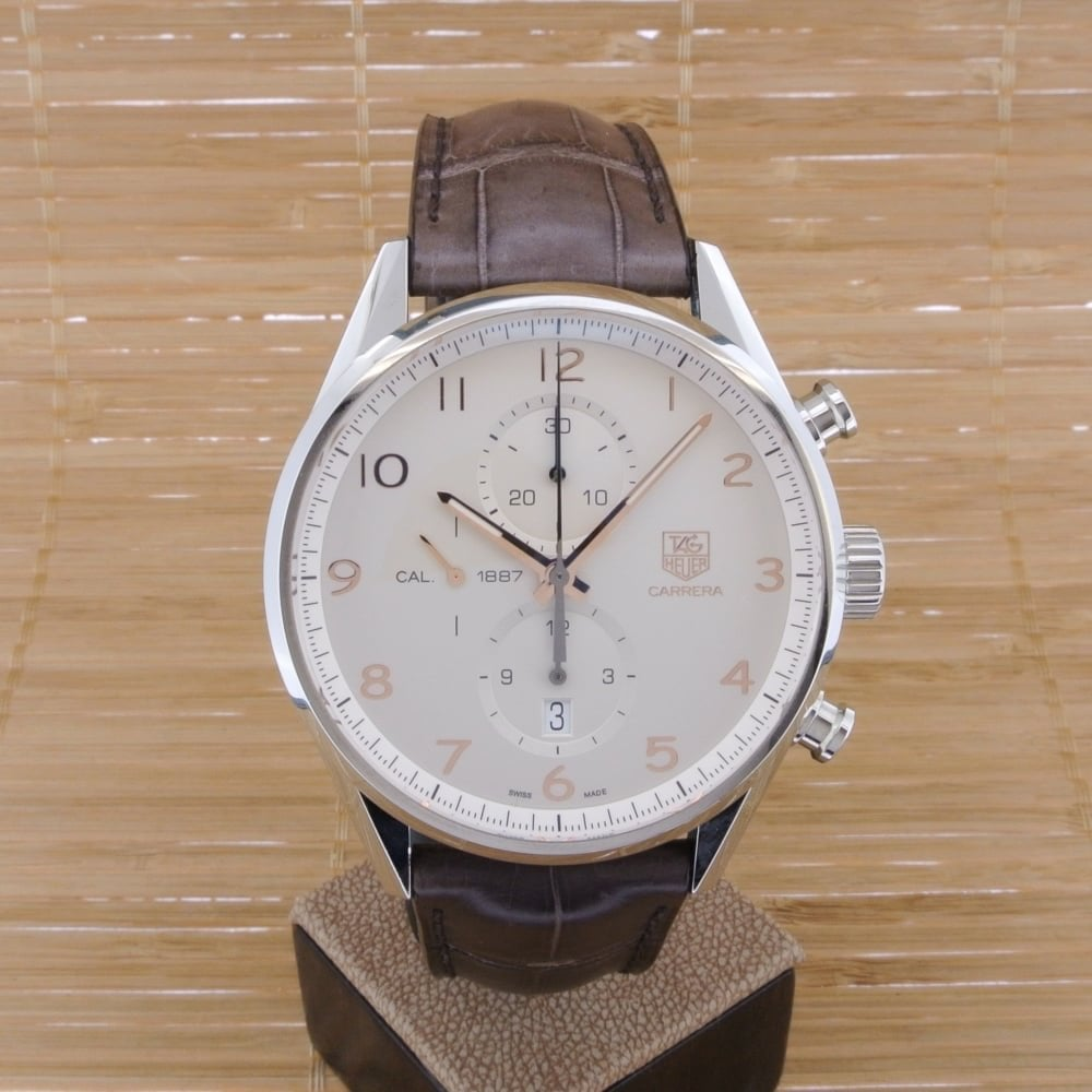Eh lineal sanar  TAG Heuer Carrera Calibre 1887 Automatic Chronograph 43mm - Unworn with Box  and Papers 2017 - Watches For Sale from Watch Buyers Ltd UK