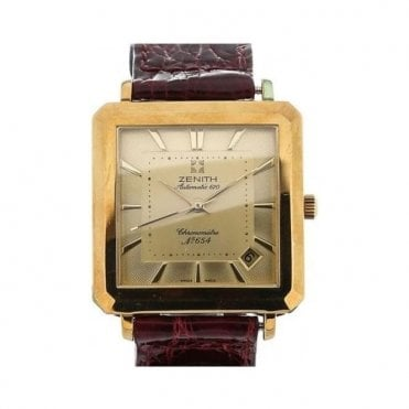 Automatic 670 Gold Rectangle - Unworn with Box and Papers 7 day delivery